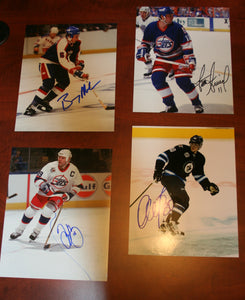 Lot of 4 Autographed Winnipeg Jets 8x10 Photos FREE SHIP Melrose Arniel Murray