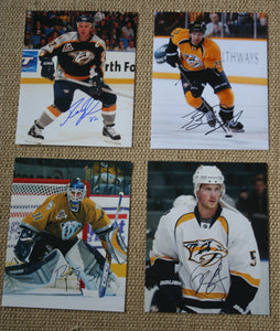 Lot of 4 Autographed Nashville Predators 8x10 Photos Johnson, Boychuk, Finley