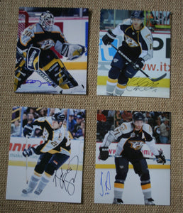 Lot of 4 Autographed Nashville Predators 8x10 Photos Mason, O'Reilly, Bernsweig
