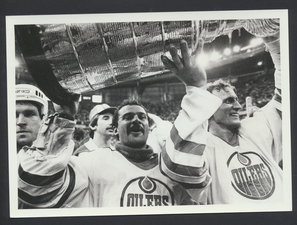 Grant Fuhr Edmonton Oilers Stanley Cup 1985 NHL Hockey Press Photo Sporting News