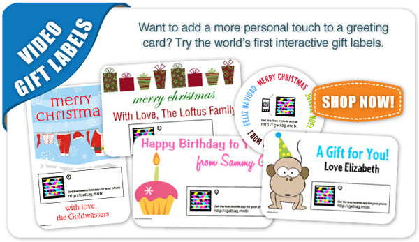 Video Gift Label Banner