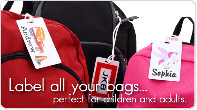 Bag Tags for kids, sports, and luggage