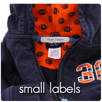 iron-on clothing label for kids