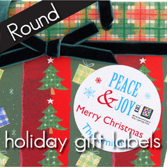 Holiday Gift Labels - Round