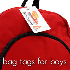 Bag Tags for Boys