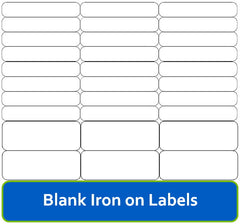 Blank Iron On Labels