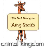 Kids Personalized Book Labels - Animal Kingdom