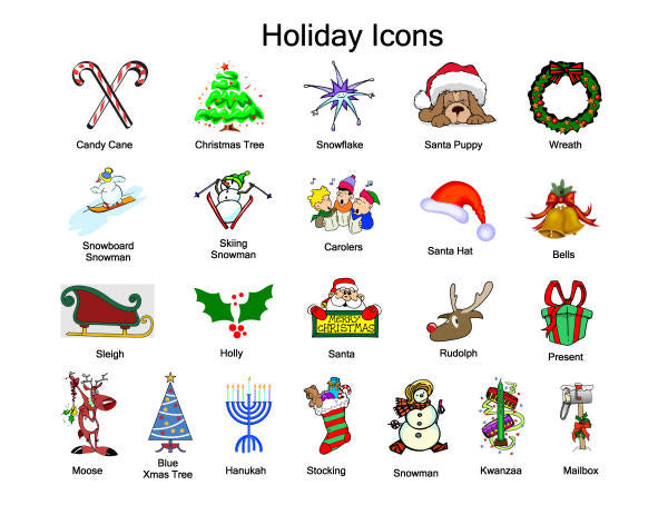 holiday icons address labels