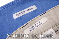 Small Iron-On Labels
