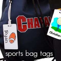 Sports Bag Tags - Great for Kids & Athletic Teams