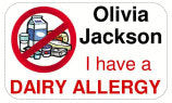 Waterproof Specific Allergy Alert Labels