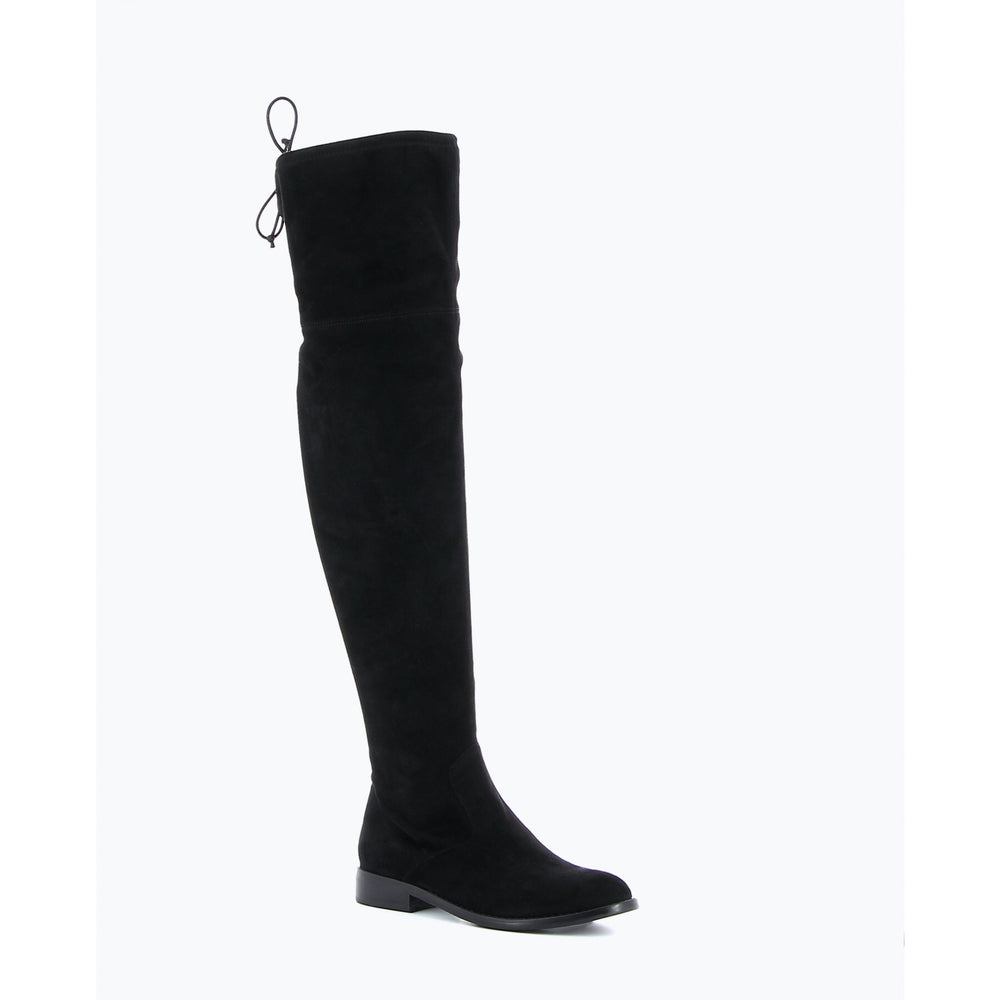 AYA BLACK SUEDE OVER THE KNEE BOOTS