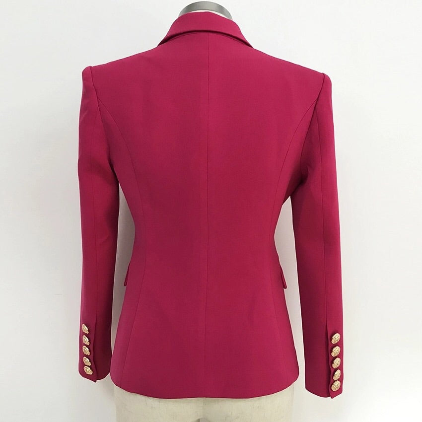 PINK WITH GOLD BUTTONS BLAZER