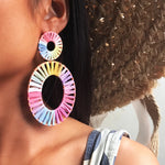MURANO RAINBOW ROUND DROP EARRINGS