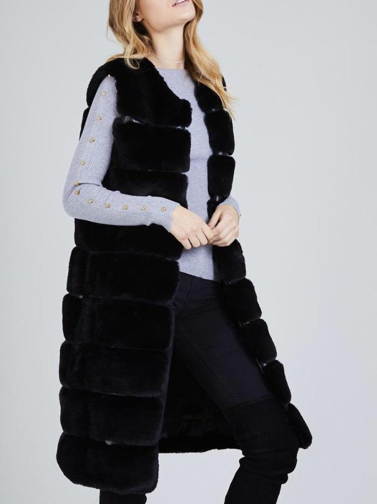 GRACIE LONGLINE PANEL FAUX FUR F01
