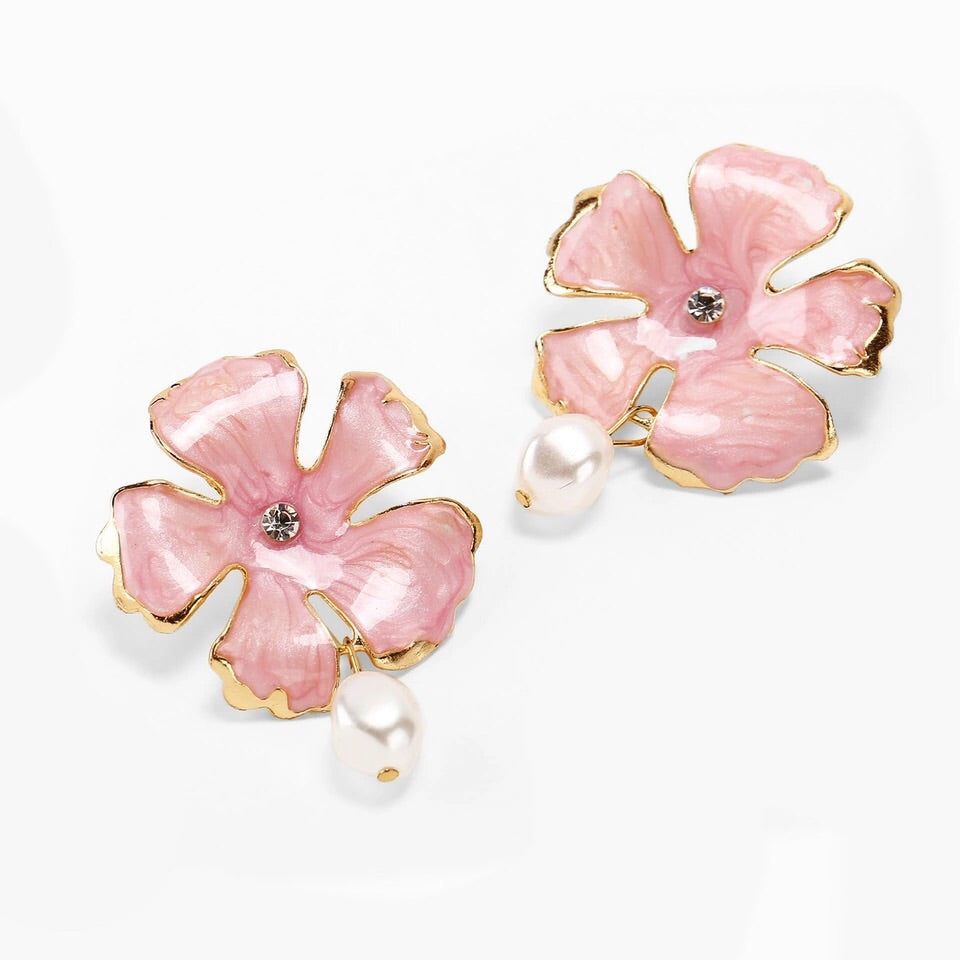 LINOSA PINK FLORAL EARRINGS