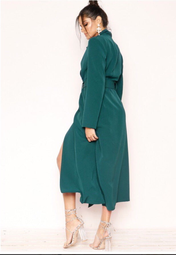 KIKI TRENCH COAT T1 GREEN EMERALD