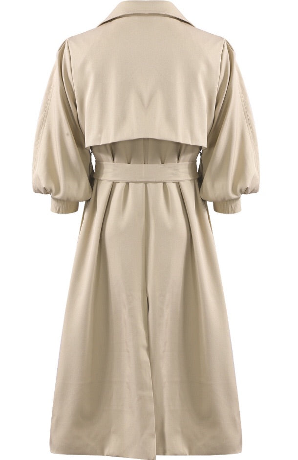 BROOKE BEIGE TRENCH COAT