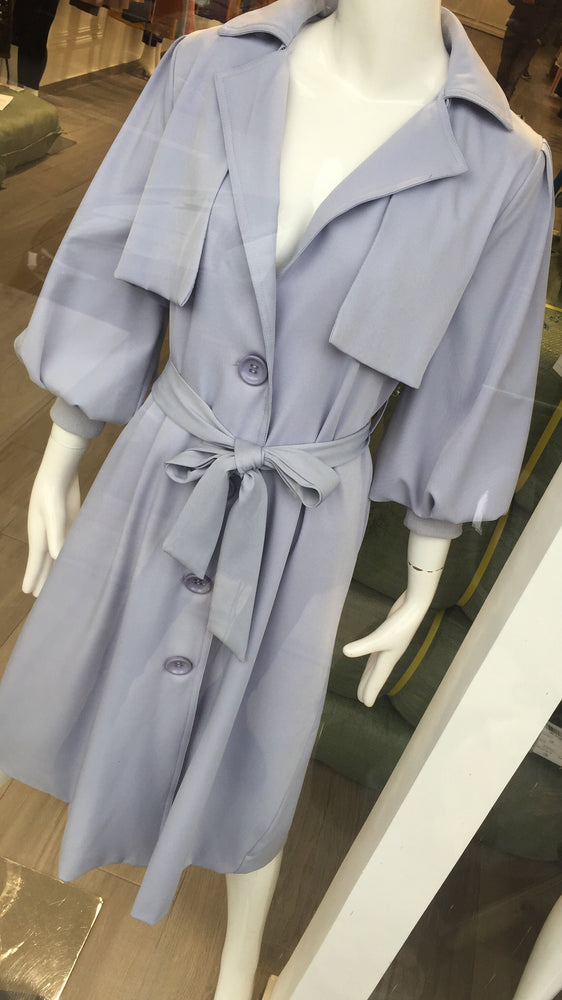 BROOKE BLUE TRENCH COAT