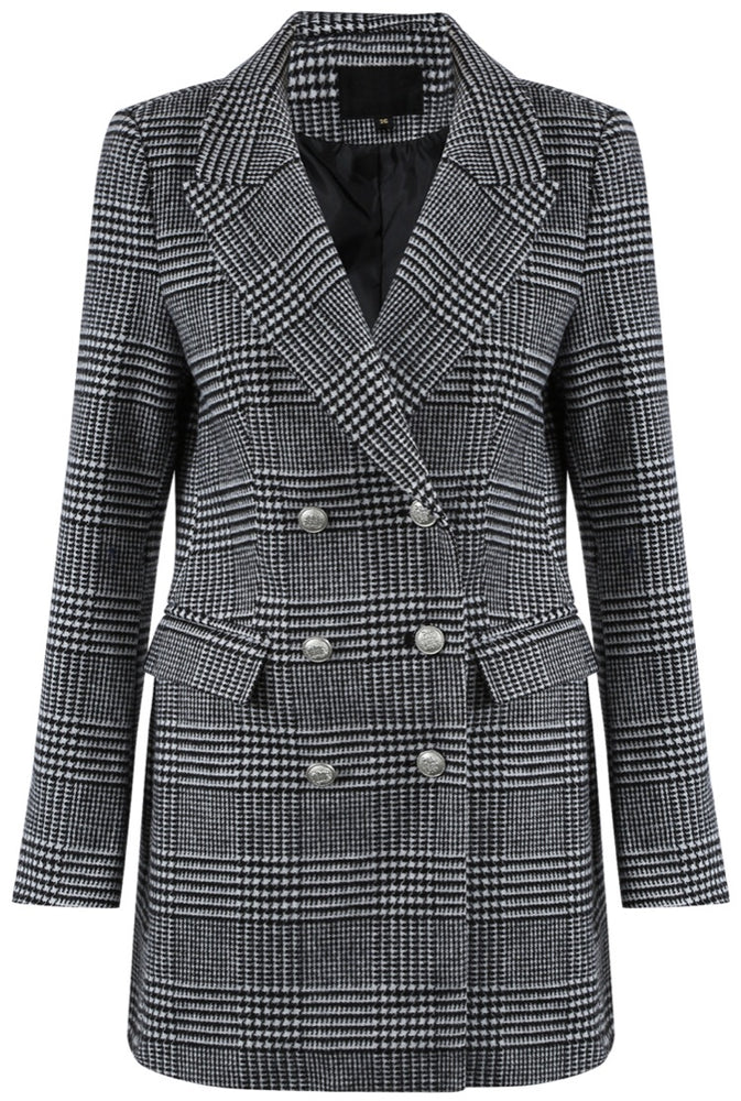 LINDA II GREY DOUBLE BREASTED BLAZER B3