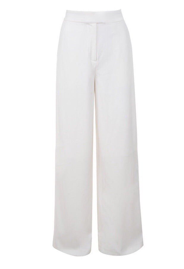 KIRA WHITE WIDE LEG TROUSERS