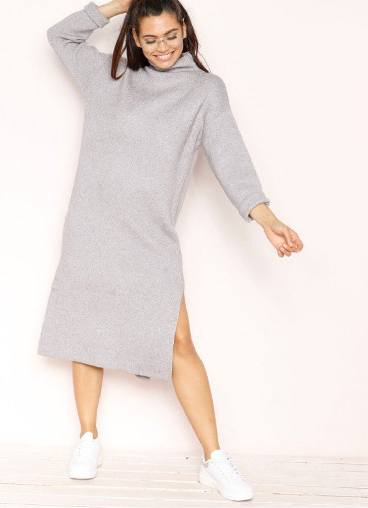 BELINDA GREY KNIT JUMPER DRESS D01