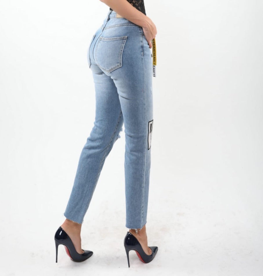 Serena Denim Distressed Artist study Jeans boyfriend