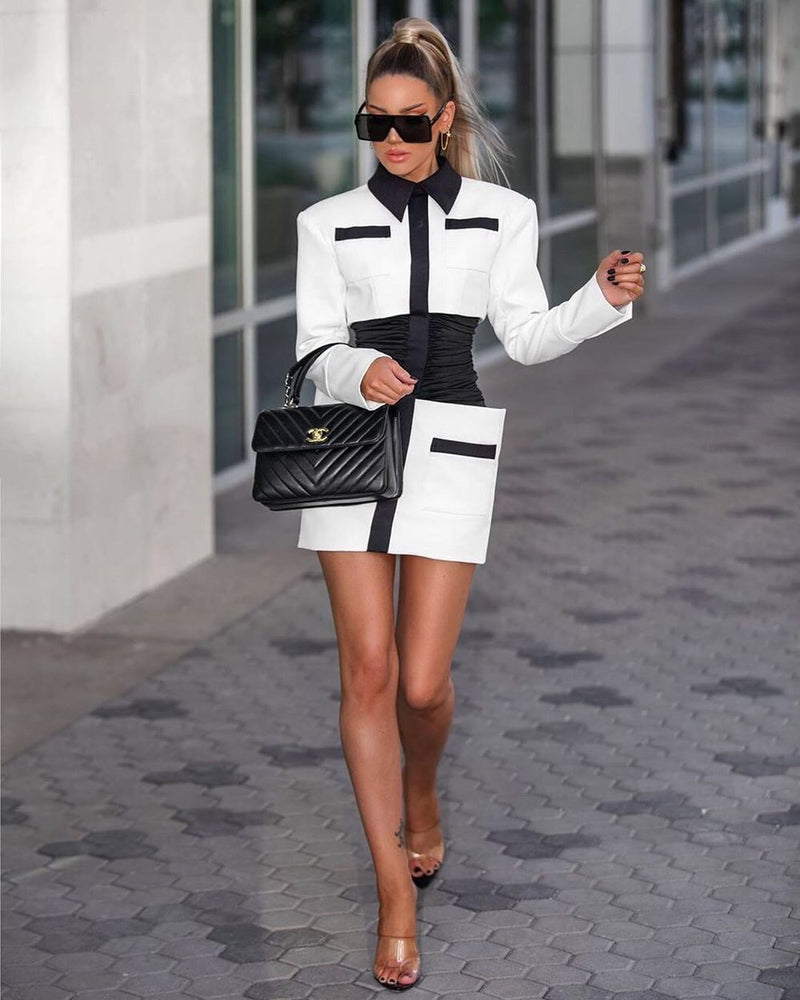 RUBY BLACK AND WHITE DRESS