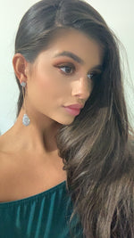 MANNAR LONG DROP CRISTAL EARRINGS
