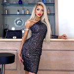 ARIANA BLACK SEQUIN DRESS