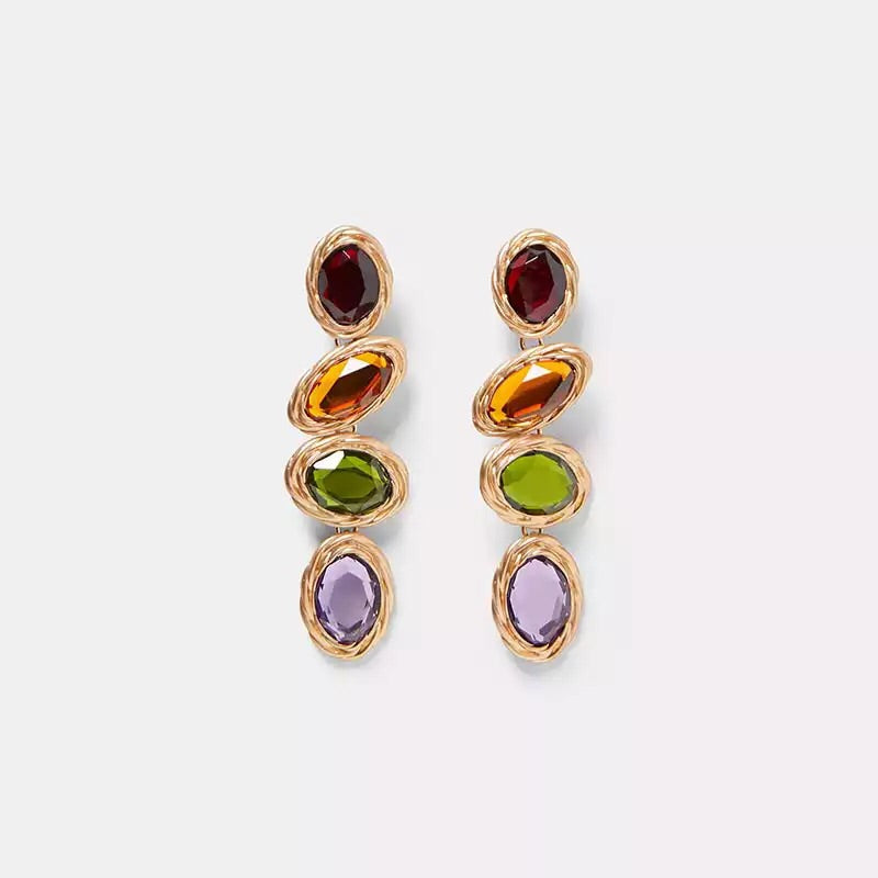 ISOLA BELLA MULTICOLOURED ROUND DROP EARRINGS