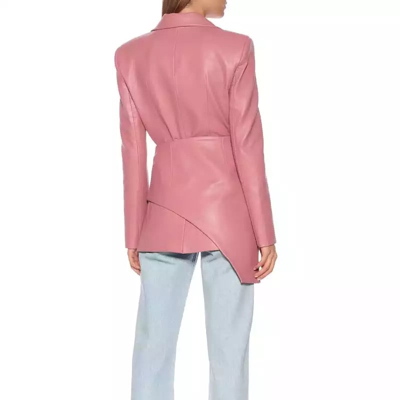 ARROSA VEGAN LEATHER 2 PIECES BLAZER LIMITED EDITION