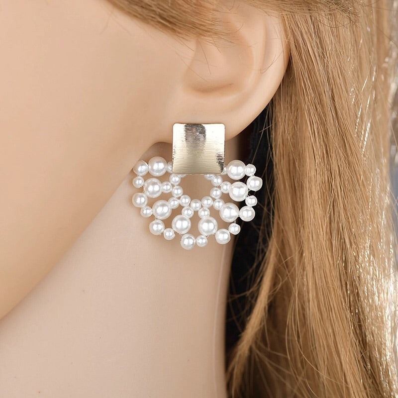 SPARJI  FAUX PEARL DROP EARRINGS
