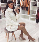 DARCY KNITTED OVERSIZED POLO KNECK JUMPER J2