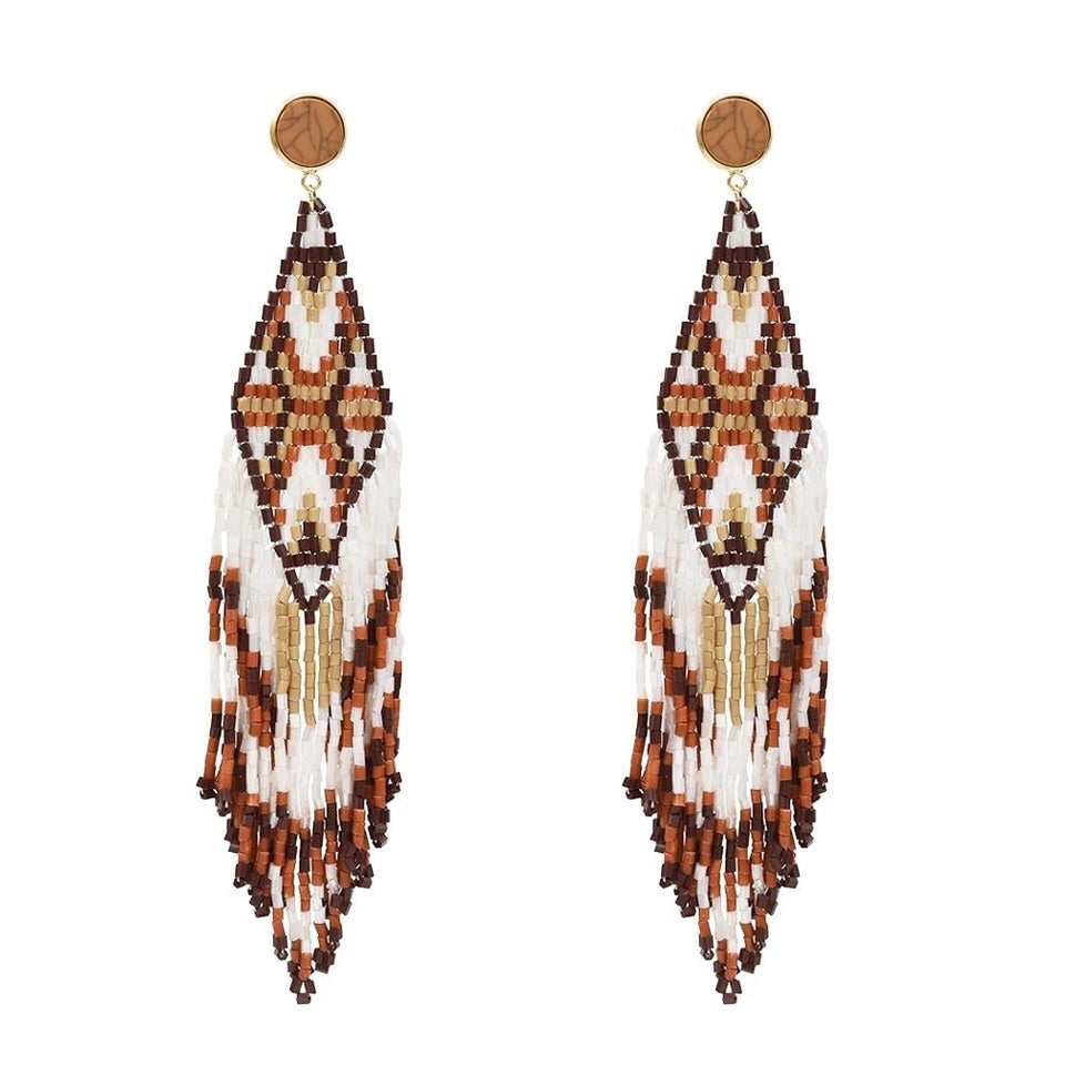 ADAMAN BROWN DROP EARRINGS