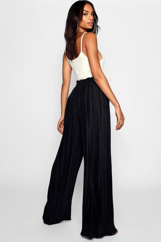 NATALIA pleated wide leg pants