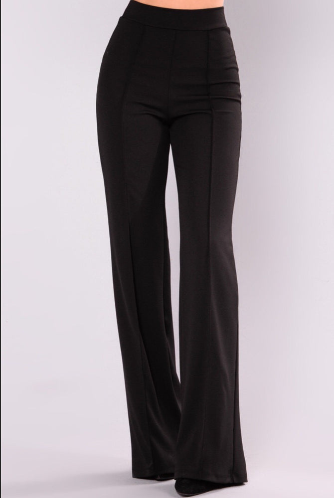 VALERIE HIGH WAISTED BLACK TROUSER