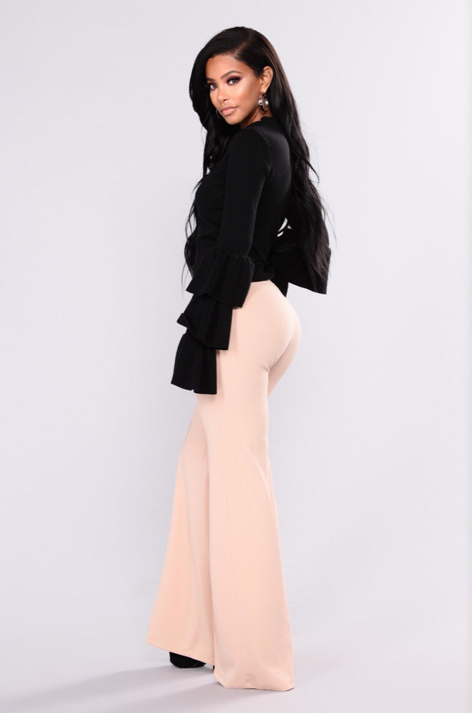 VALERIE HIGH WAISTED NUDE TROUSER