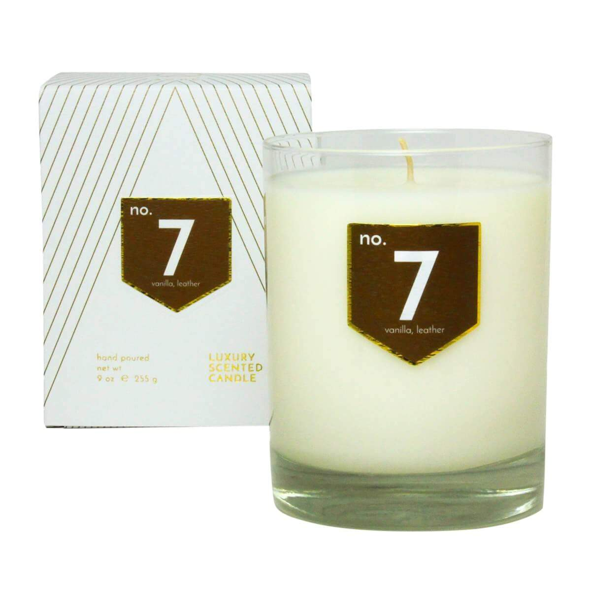 ACDC Candle Co Candles & Diffusers No. 7 Vanilla Leather Scented Soy Candle
