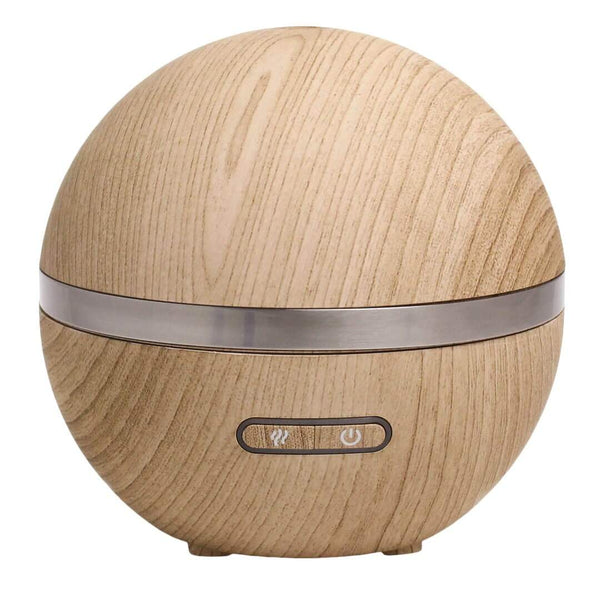 ACDC Candle Co Candles & Diffusers Round Wood Grain Ultrasonic Aromatherapy Diffuser