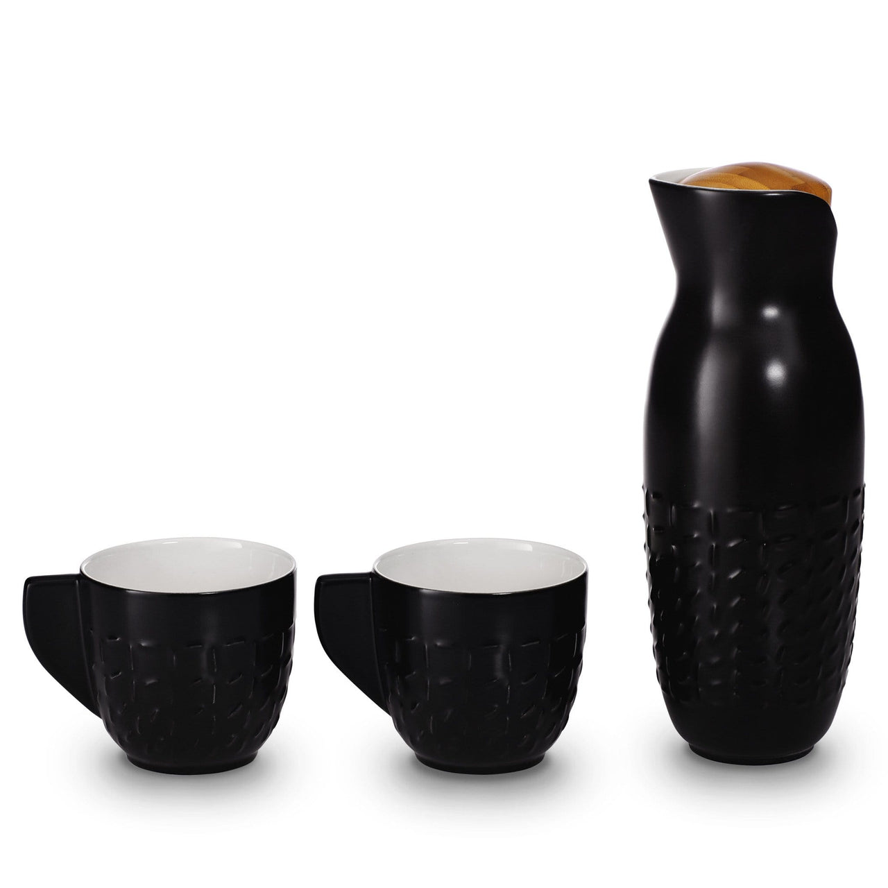 Acera Liven Coffee & Tea Accessories Black Footprint Carafe With Handles Set
