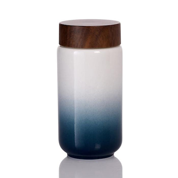 Acera Liven Flasks & Water Bottles Denim Blue Ombre Cheer Up Ceramic Tumbler