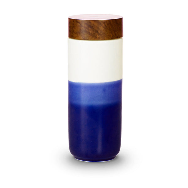 Acera Liven Flasks & Water Bottles Navy Blue Ombre The Beauty of Dawn Ceramic Tumbler
