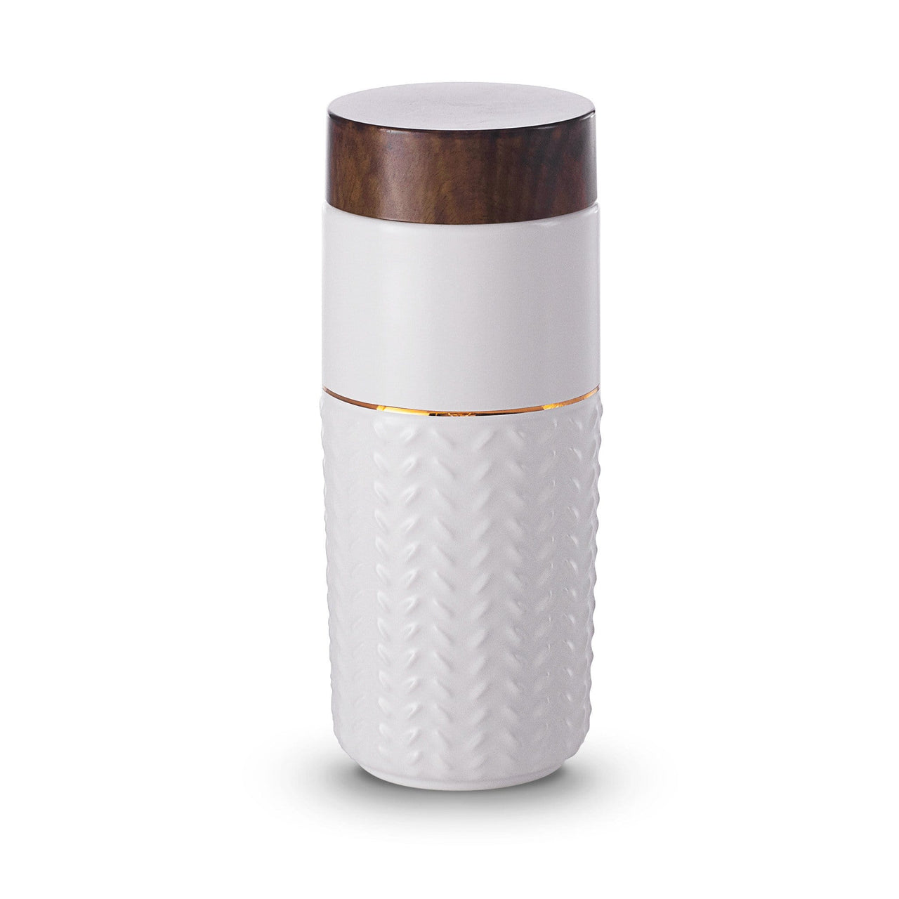 Acera Liven Flasks & Water Bottles White + Golden Line (Hand Painted) One-O-One Flying to the Clouds Gold Tumbler