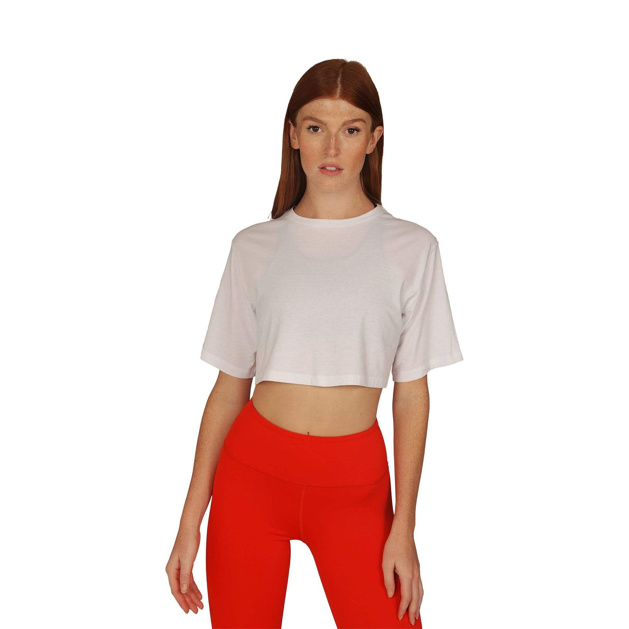 Alana Athletica Yoga 1X / White Classic Quick-Drying Crop Tee