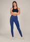 Alana Athletica Yoga L / Blue + Breathe (Laser Cut) Dash Side Pocket Active Legging