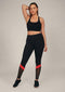 Alana Athletica Yoga XS / Black + Red + Breathe (Mesh) High-Rise Stripe Active Legging