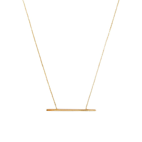 AMARILO Necklaces 14k yellow gold Beam Necklace