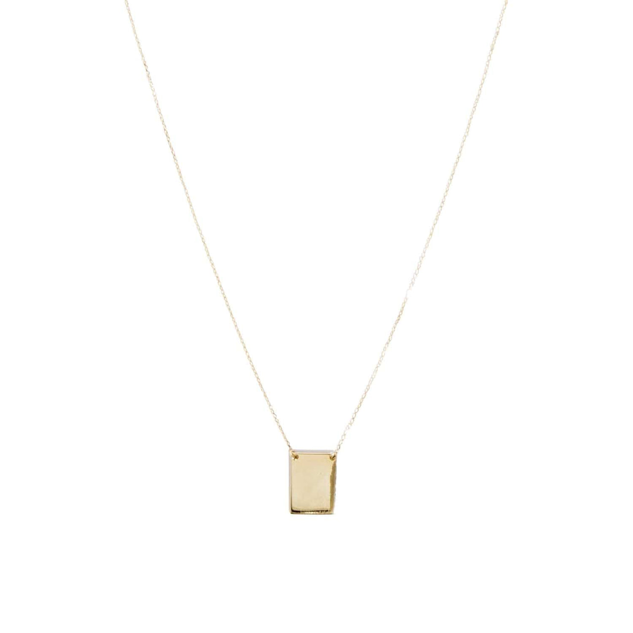 AMARILO Necklaces 14k yellow gold Square Pendant Necklace