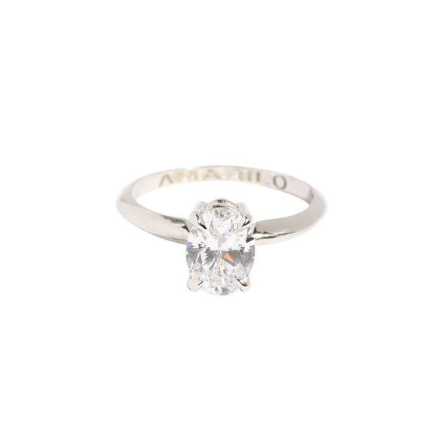 AMARILO Rings Classic Oval Solitaire Ring
